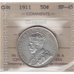 1911 Fifty Cents - Specimen