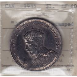 1935 Silver Dollar J.O.P. Counterstamped