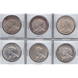 1935 Silver Dollars - Lot of 6