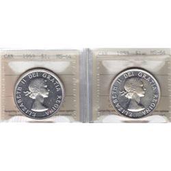 1953 Silver Dollar - Lot of Both Varieties