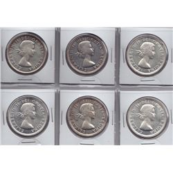 1954 Silver Dollars - Lot of 6