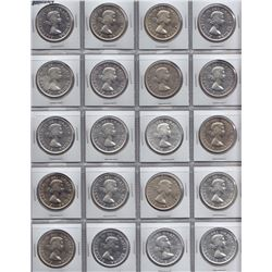 1955 Silver Dollars - Lot of 20