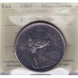 1967 Silver Dollar Flip Strike