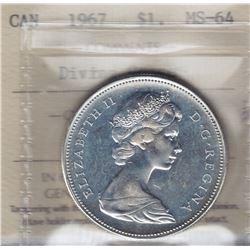 1967 Silver Dollar Diving Goose