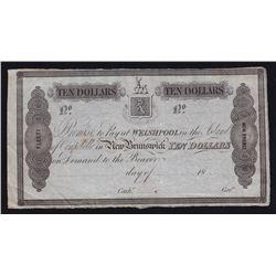 1839 New Brunswick, Campobello Mill & Manufacturing Co. Welshpool, Island of Campobello $10