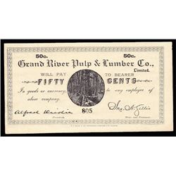 Fifty Cents Grand River Pulp & Lumber Co.