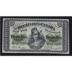 1870 Dominion of Canada Twenty Five Cents