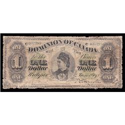 1878 Dominion of Canada $1 Rare Payable at Halifax