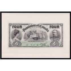 1902 Dominion of Canada $4 Proof