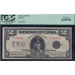 1923 Dominion of Canada $2