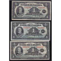 1935 Bank of Canada $1 Type Set