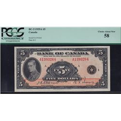 1935 Bank of Canada $5