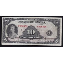 1935 Bank of Canada $10 French