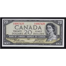 1954 Bank of Canada $20 - Devil's Face