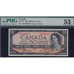 1954 Bank of Canada $50 Devil's Face