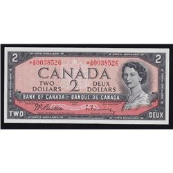 1954 Bank of Canada $2 Replacement