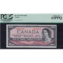 1954 Bank of Canada $1000