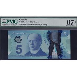 2013 Bank of Canada $5