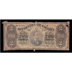 Dominion $2, 1878, Contemporary Counterfeit