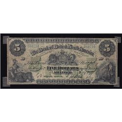 Bank of British North America $5, 1877, Contemporary Counterfeit