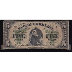 Bank of Commerce, $5, 1871, Contemporary Counterfeit