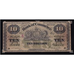 Bank of Commerce, $10, 1871, Contemporary Counterfeit