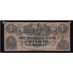 Dominion Bank, $4, 1871, Contemporary Counterfeit