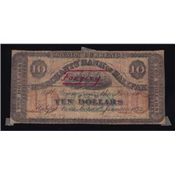 Merchants Bank of Halifax, $10, 1874, Contemporary Counterfeit