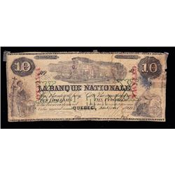 La Banque Nationale, $10, 1860, ovpt. OTTAWA, Contemporary Counterfeit