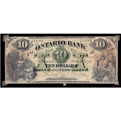 The Ontario Bank, $10, 1870, Contemporary Counterfeit