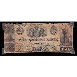The Quebec Bank, $2, 1859, Contemporary Counterfeit