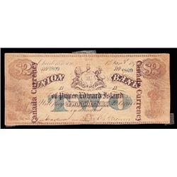 Union Bank of PEI, $2, 1872, Contemporary Counterfeit