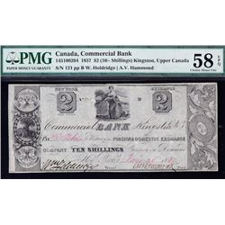 Commercial Bank $2 (10 Shillings), 1837