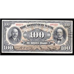 Dominion Bank $100, 1931 - Trophy Note
