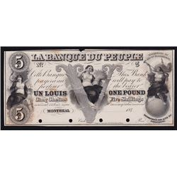 La Banque du Peuple Five Shillings. One Pound. 184_