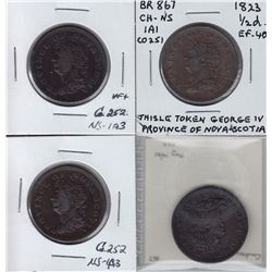 TOKENS OF NOVA SCOTIA  - Co. 251 and 252. Br 867.