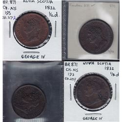 TOKENS OF NOVA SCOTIA  - Co. 271, 272, 274, 275. Br 871