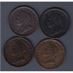 TOKENS OF NOVA SCOTIA  - Co. 267, 273 var, 274, 275.  Br 871