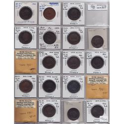 TOKENS OF NOVA SCOTIA  - Lot of 46 George IV halfpennies. Br 867, 869, 871.