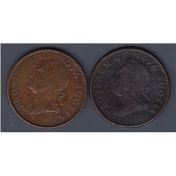TOKENS OF NOVA SCOTIA  - Co. 277 and 283. Br 871.