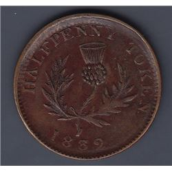 TOKENS OF NOVA SCOTIA  - Co. 282. Br 871.