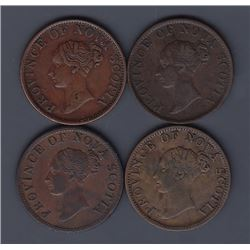 TOKENS OF NOVA SCOTIA  - Co. 292, 294, 306, 307.  Br 874.