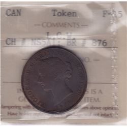 TOKENS OF NOVA SCOTIA  - LCW 1856 Mayflower Halfpenny. Courteau 317.  Br 876.