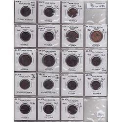 TOKENS OF NOVA SCOTIA  - Lot of 18 NS decimal pieces.
