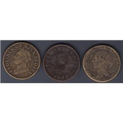 TOKENS OF NOVA SCOTIA  - Three sand cast counterfeits.