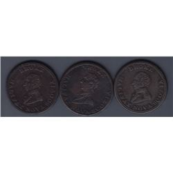 TOKENS OF NOVA SCOTIA  - A trio of Broke tokens. Br 879.