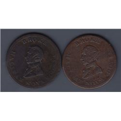 TOKENS OF NOVA SCOTIA  - Co. 326 & 328.  Br 879.