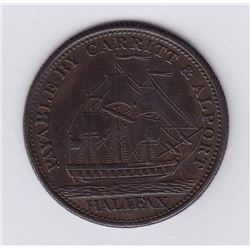 NOVA SCOTIA MERCHANT TOKENS - Co. 331.  Br 881. Carritt & Alport.