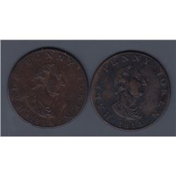 NOVA SCOTIA MERCHANT TOKENS - A pair of Co. 333. Br 880.