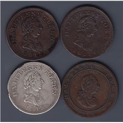 NOVA SCOTIA MERCHANT TOKENS - Four Hosterman & Etter halfpennies.